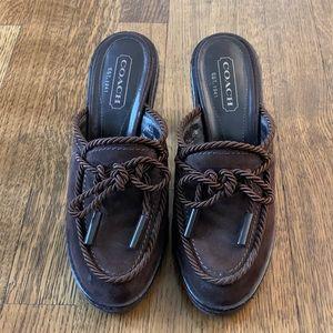 Coach - Jenn - women's suede mule clogs (Size 6.5)